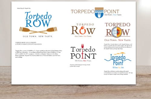 Samples of logos designed for Torpedo Row Community
