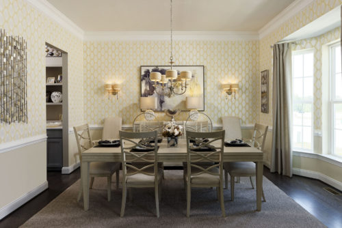 Upscale furnishings, wall art & lighting by Progress