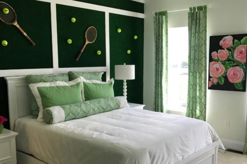 "Tennis anyone? Everyone ""loves"" this theme room!"