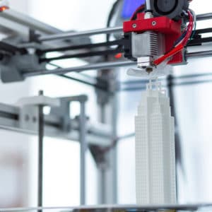 3D printing a model of a skyscraper
