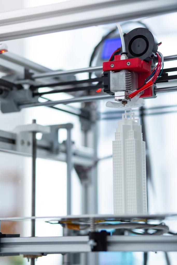 3D printing a model of a skyscraper